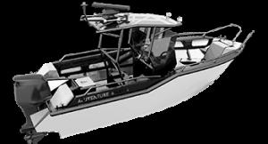 Aluminiumboot Aluventure Boats: Fahrspaß und Angelfreude für bis zu 6 Personen